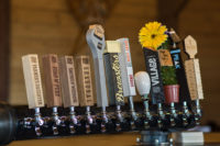 Locally produced beers on tap!